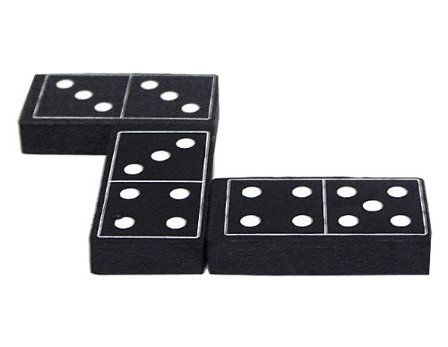 Teacher Created Resources Foam Dominoes, Black (20601)