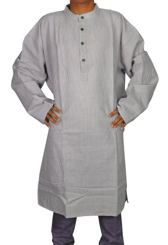 Handmade Casual Wear Indian Khadi Mens Long Kurta Fabric For Winter & Summers Size-5XL