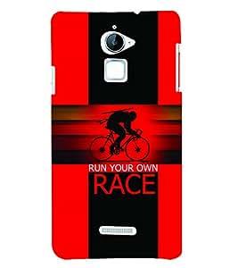 PrintVisa Sports Race 3D Hard Polycarbonate Designer Back Case Cover for Coolpad Note 3 Lite