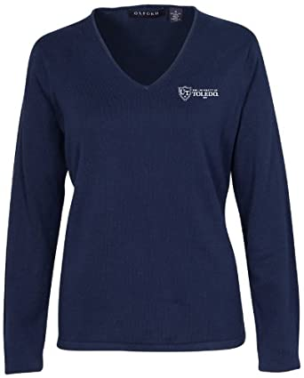 Oxford NCAA Toledo Rockets Ladies Carson V-Neck Sweater by Oxford