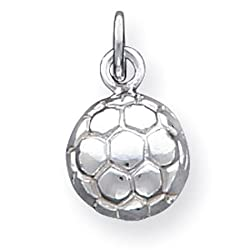 925 Sterling Silver Soccer Ball Sports Charm Pendant
