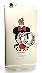 PRAVARA Mickey Mouse Character Design Universal Mobile Phone Finger Grip Ring Stand 360 Degree Rotating Holder Stent Safety Buckel