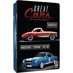 Great Cars - Television Series - Corvette, Mustang, Cobra & GT-40 - Embossed Slim Tin
