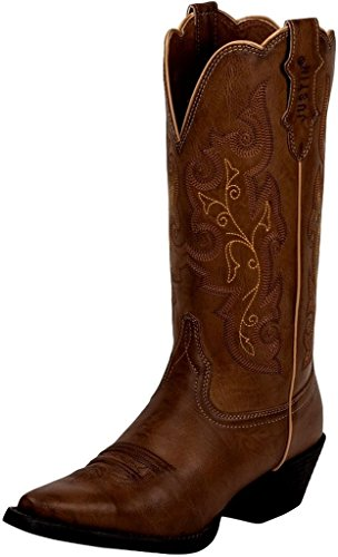 Justin Women's Burnished Farm And Ranch Cowgirl Boot Snip Toe