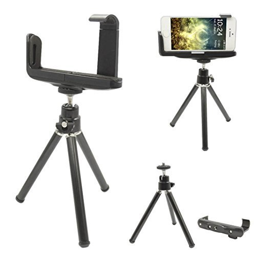 Moon mood® Mini Treppiedi Videocamera Holder per iPhone, Smartphone Android, Telefoni Cellulari 3.5 Pollice - 4.7 Pollice