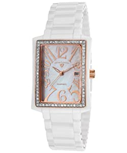 Swiss Legend Women's 10034D-WWRA Bella Analog Display Swiss Quartz White Watch