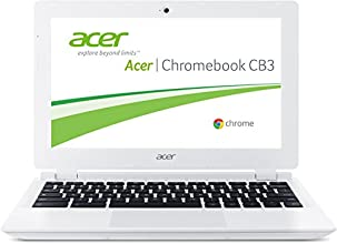 Acer Chromebook CB3-111-C2WP 29,4 cm (11,6 Zoll HD) Notebook (Intel Celeron N2840, 2,6GHz, 2GB RAM, 16GB eMMC, Google Chrome OS) weiß