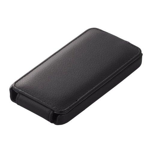 iBUFFALO iPhone 4S専用 『お財布ケータイに早変わり』 ICカード対応レザーケース (ブラック) BSIP11PCLBK