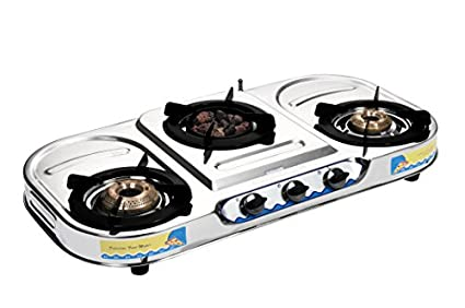 Sunshine Meethi Angeethi 3 Burner VT-3 SS Gas Cooktop