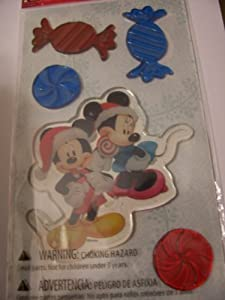 Disney Mickey Mouse Christmas Gel Clings Christmas Treats 5 Clings by Wal-mart
