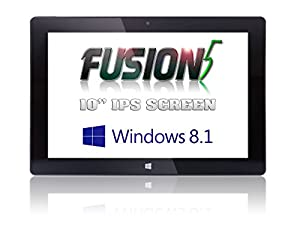 """Fusion5® Ultra Slim Windows Tablet PC - Touch Screen - Windows 8.1 - Intel Baytrail-T CR (Quad-core) Z3735F - 1GB DDR3 - 16GB ROM, Dual Camera - Bluetooth Tablet PC (10"""" IPS (1280*800)) from Fusion5"""