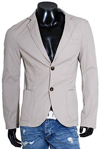 Enos Jeans Herren Blazer Freizeit Sakko Übergangs Sommer Jacke F-7509 Vintage Look, Grösse:L;Farbe:Grau