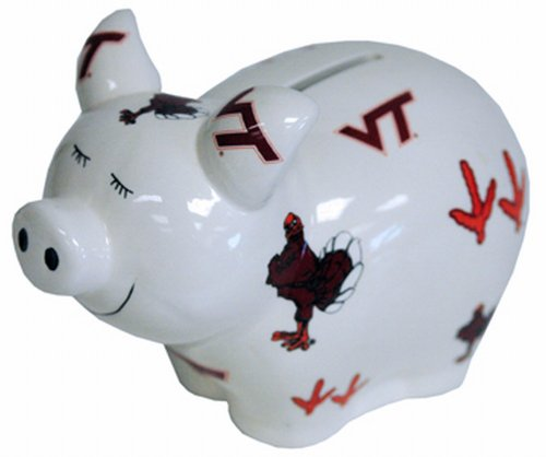 NCAA Virginia Tech Hokies Bank Pig Lg