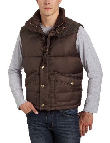 Gant mens jackson vest/gilet in dark brown LGE