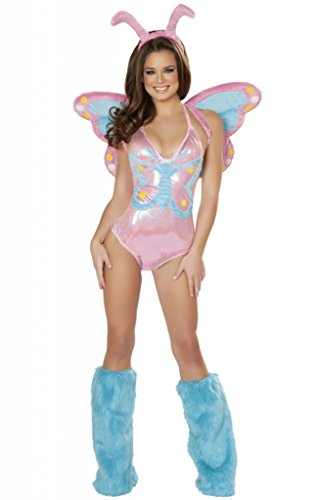 Sexy Pastel Butterfly Stretch Bodysuit Halloween Costume