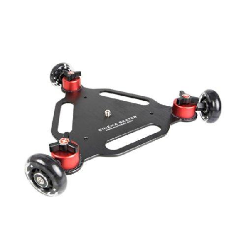 Triangle Cinema Skater Kamerawagen  Dolly für Video-DSLRs und Camcorder  mit 3 Rollen  schwarz