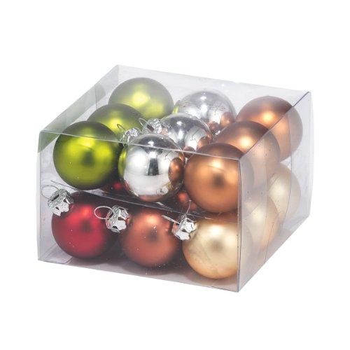 Department 56 Winter's Lodge 18-Piece 3.5-Inch Glass Ornament, Mini