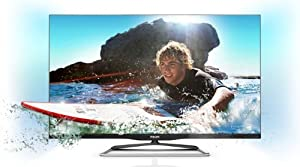 Philips 42PFL6907K/12 107 cm (42 Zoll) Ambilight 3D LED-Backlight-Fernseher (Full-HD, 600Hz PMR, DVB-C/-T/-S, CI+, Smart TV Premium, WiFi) schwarz - metallic