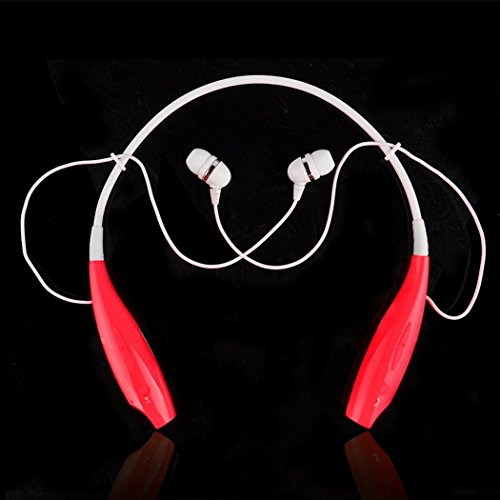 Onedayshop® Brand New Universal Hbs-730 Wireless Bluetooth Stereo Headset Neckband Style Earphone And Handfree Headphones For Cellphones, Such As Iphone, Nokia, Htc, Samsung, Lg, Moto, Pc, Ipad, Psp & Any Bluetooth Enabled Device. (Red)