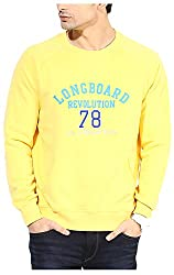 UV&W Men's Fleece Sweatshirt (MFTCK32_L_Gold, Gold Large)