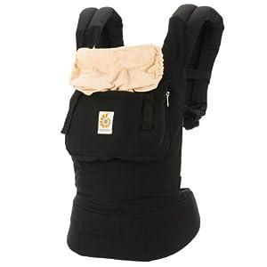 Ergo Baby Carrier: Black-Camel