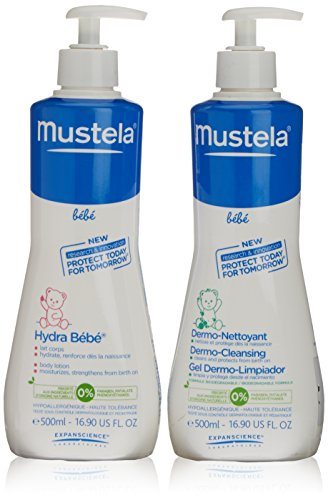 Mustela-Bebe latte dosatore 500 ml, gel dermo detergente 500 ml Bebe
