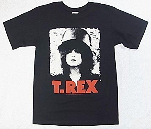 (ティー・レックス)T-REX マーク・ボラン face Tシャツ S ブラック
