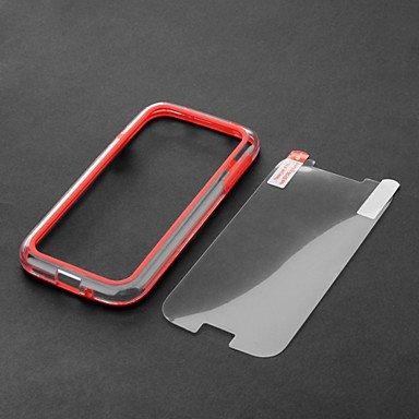 Fashion Design Two-tone Plastic and TPU Bumper Case for Samsung Galaxy S4 i9500/i9505 --- COLOR:Black