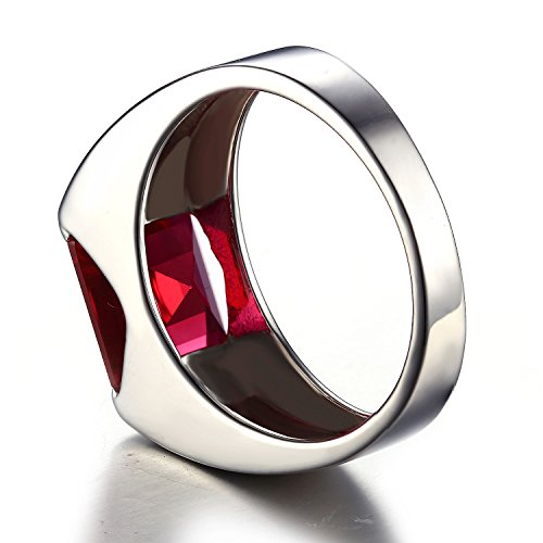 jewelrypalace luxe bague homme en argent sterling 925 en rubis de synth se pour. Black Bedroom Furniture Sets. Home Design Ideas