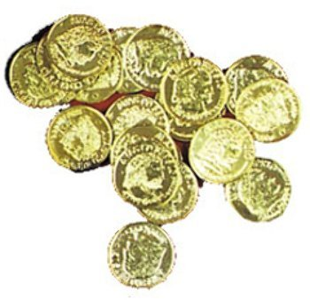 "WMU 549300 1.5"" Doubloons Gold Plastic Pirate Coins - Pack of 144"