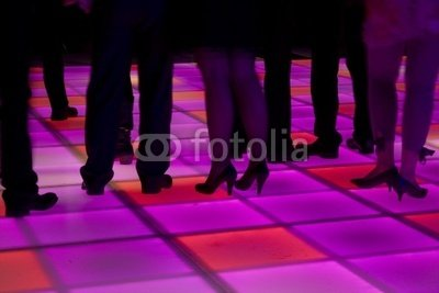 Wallmonkeys Peel and Stick Wall Decals - Colorful Led Dance Floor - 24