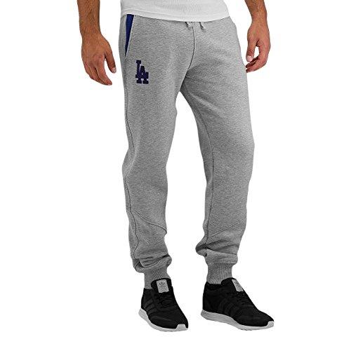 NEW ERA MLB ne97046fa16Track Losdod-Pantaloni di chándal-línea Los Angeles Dodgers per uomo, colore: grigio, UOMO, Ne97046Fa16 Mlb Track Losdod, gris (dk grey), L
