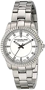 Stuhrling Original Symphony Women's Quartz Watch with Silver Dial Analogue Display and Silver Stainless Steel Bracelet 408LL.01