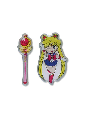 Sailormoon Sd Moon & Stick Metal Pin Set