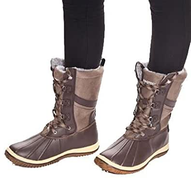 Amazon.com: Protest Women's Samara Snow Boots 5 UK Brown