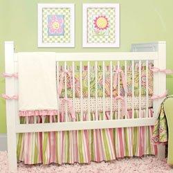 Spring Paisley Crib Bedding Set