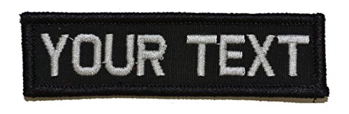 Customizable Text 1x3 Patch w/Velcro - Military/Morale - Black (Custom Velcro Patch compare prices)