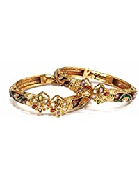 Shingar Jewellery Ksvk Jewels Antique Gold Plated Bangles Set For Women (5962-m-2.4)