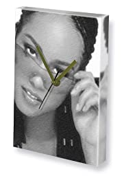 ALICIA KEYS - Canvas Clock (LARGE A3 - Signed by the Artist) #js001