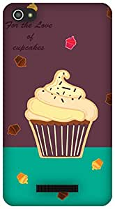 The Racoon Lean Cupcakes hard plastic printed back case / cover for Micromax Canvas Hue 2 A316