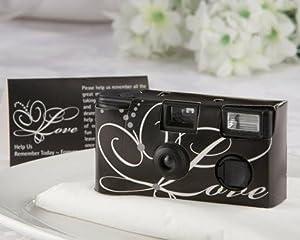 Baby Keepsake: Love Disposable Wedding Camera with Table Card Black