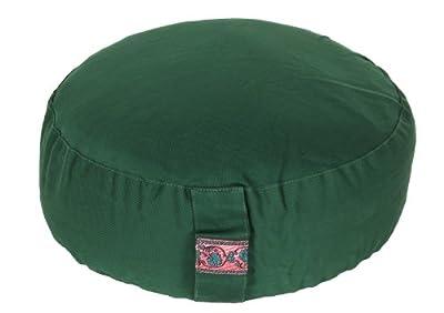 Meditationskissen Glückssitz Basic grün, Ø 33 cm x 15 cm, Bezug und Inlett 100% Baumwolle, Bezug und Inlett maschinenwaschbar bis 30º C