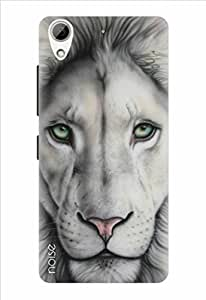 Noise White Lion Printed Cover For HTC 526G
