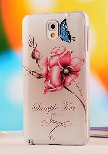 For Samsung Galaxy Note 3 Case (Nancy'S Shop) Colorful Painting 3D Hard Cell Phone Accessories Case And Covers For Unlocked Tmobile Samsung Galaxy Note 3 Iii (Flower And Butterfly)