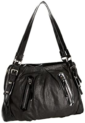 High Fashion 4786 Satchel,Black/Black Patent,one size