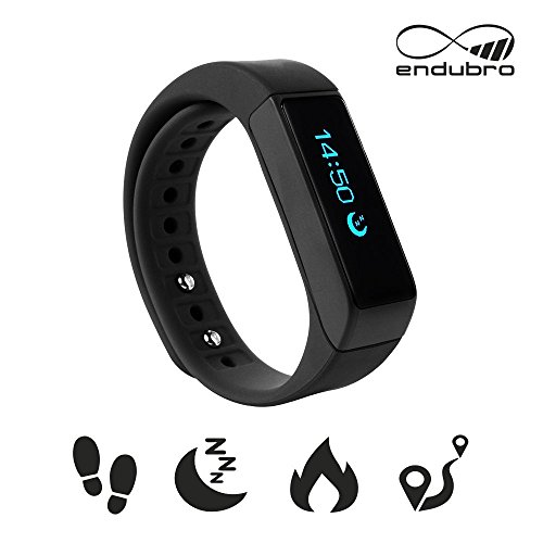 endubro i5 Plus - MANUALE E APP IN ITALIANO - Braccialetto fitness / fitness tracker / smart bracelet / smartwatch con touchscreen Oled e Bluetooth 4.0 per Android e IOS - contapassi, monitoraggio del sonno, notifiche chiamate/SMS/Whatsapp/Facebook con Android e IOS - NERO