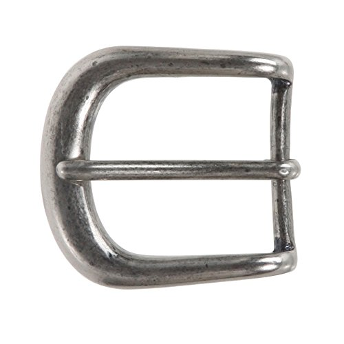 "1 1/4"" (32 mm) Single Prong Solid Brass Horseshoe Belt Buckle Color: Antique Silver"