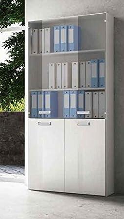 Mobile libreria per ufficio Galileo 4 ante R3S2V1 - Sportello Bianco