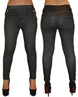 No 1 Jeggings Jeans Like Leggings Denim Blue Colour