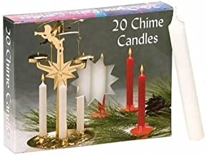 Biedermann amp Sons Chimeparty Candles - White- 2 Boxes of 20 Each